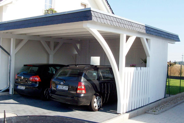 doppelcarport mit flachdach sattel walmdach solarterrassen carportwerk gmbh. Black Bedroom Furniture Sets. Home Design Ideas