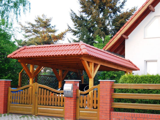 Carport mit Dachsteine