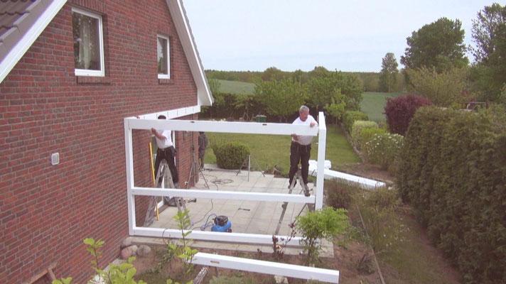 Terrassendach Montage