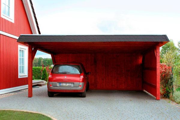 Carport mit Abstellraum