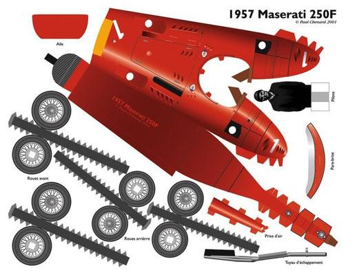 Plantilla recortable avioneta roja