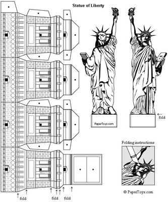 Plantilla recortable Estatua de la Libertad