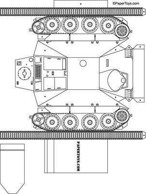 Plantilla recortable tanque
