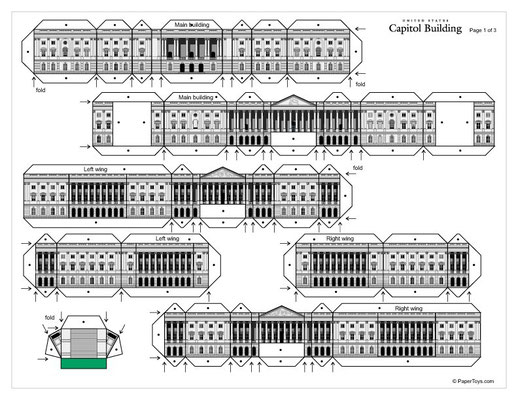 Plantilla recortable Capitolio