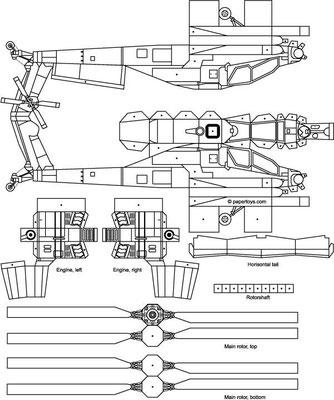 Plantilla recortable helicóptero