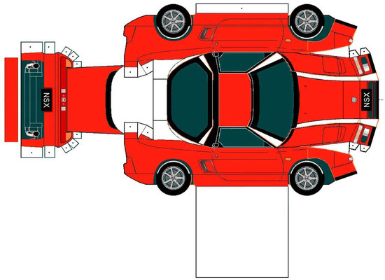 Plantilla recortable coche rojo