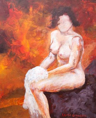 Woman on fire  -  Acryl auf Leinwand - 100/80 cm