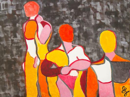 Acryl auf Leinwand – 80 x 60 cm   Drei Männerstärken