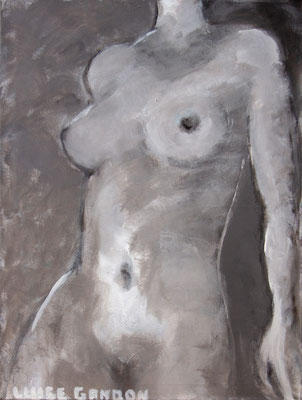 Acryl auf Leinwand - 80/60 cm - Steingrauer Akt