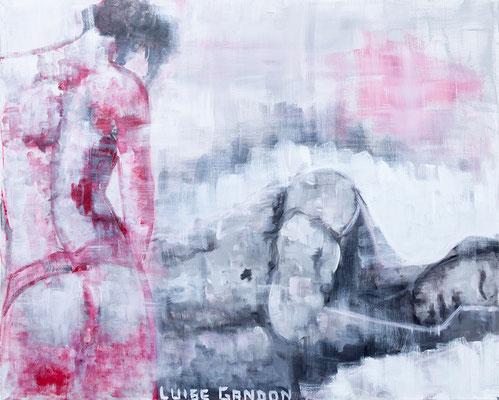 Dreaming Man - Acryl auf Leinwand - 100/80 cm