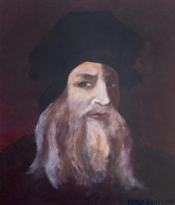 Leonardo da Vinci - Acryl auf Leinwand - 70/60 cm