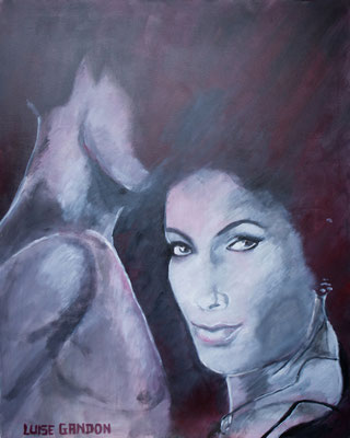 Acryl auf Leinwand – 100 x 80 cm   Sans paroles