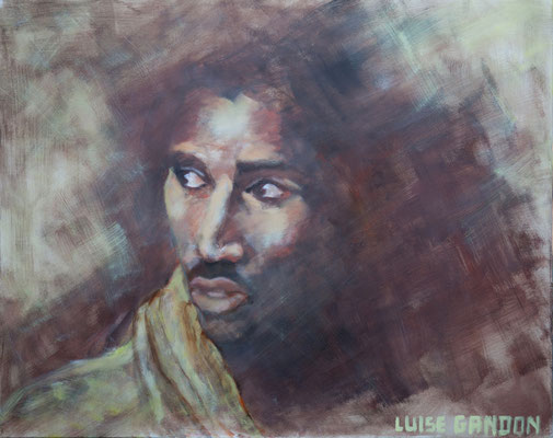 Acryl auf Leinwand – 100 x 80 cm    Filmszene