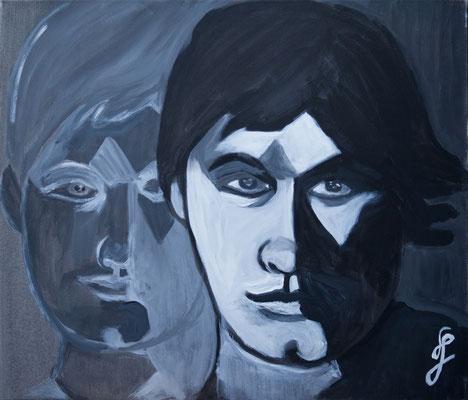 Acryl auf Leinwand – 70 x 60 cm  Never alone