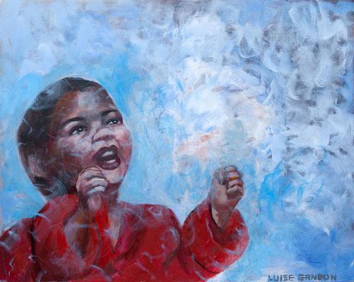 We shall overcome - Acryl auf Leinwand - 100/80 cm