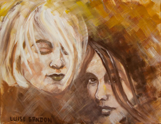 Acryl auf Leinwand – 90 x 70 cm   Together