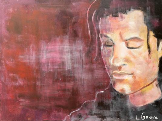 Chanteur - Acryl auf Leinwand - 80/60 cm