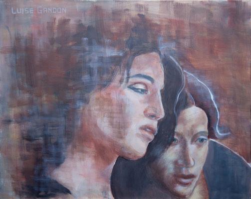 Acryl auf Leinwand – 100 x 80 cm    Together