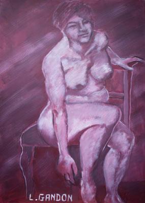 Acryl auf Leinwand – 100 x 80 cm   Alte Meister