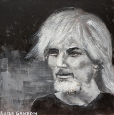 Acryl auf Leinwand - 60/60 cm - chanteur (Hugues Aufray)