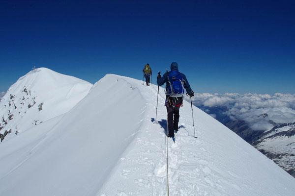 Gipfelgrat - die letzten Meter bis zum Ziel
