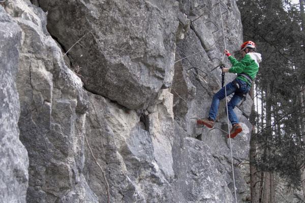 Steilstufe am Klettersteig in Hinterstoder Poppenberg
