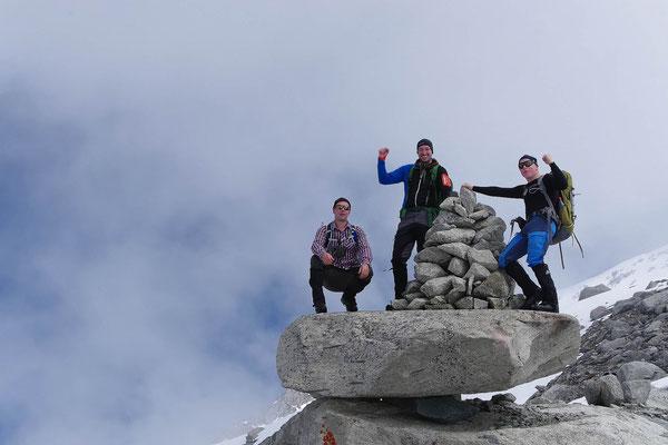Helden vom Gletscherkurs auf der Kürsingerhütte Nationalpark Hohe Tauern