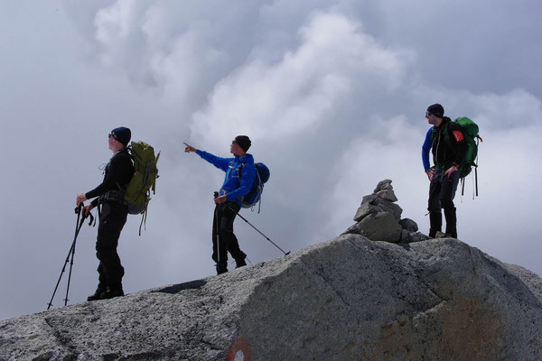 Wolkenstimmung beim Gletscherkurs auf der Kürsingerhütte