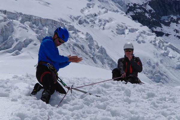 Gletscherkurs, Sturz halten - wie war das mit den Knoten?