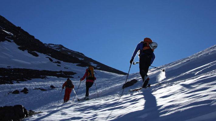 Skitouren in Marokko, Aufstieg zum Jebel Toubkal im Hohen Atlas