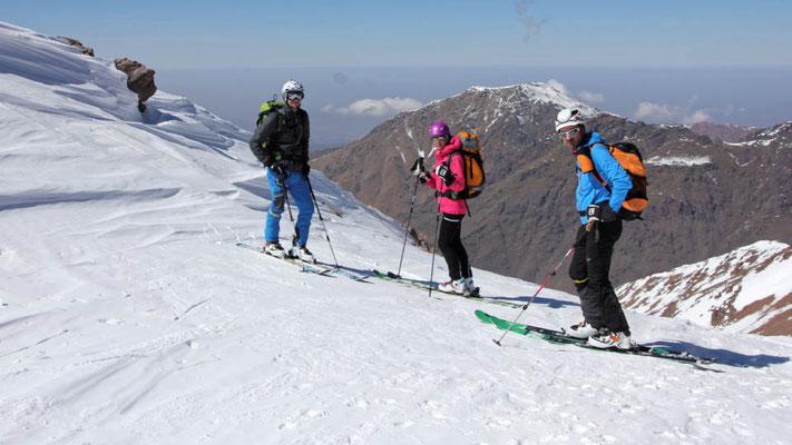 Mentales Vorbereiten auf unsere erste Skiabfahrt in Marokko