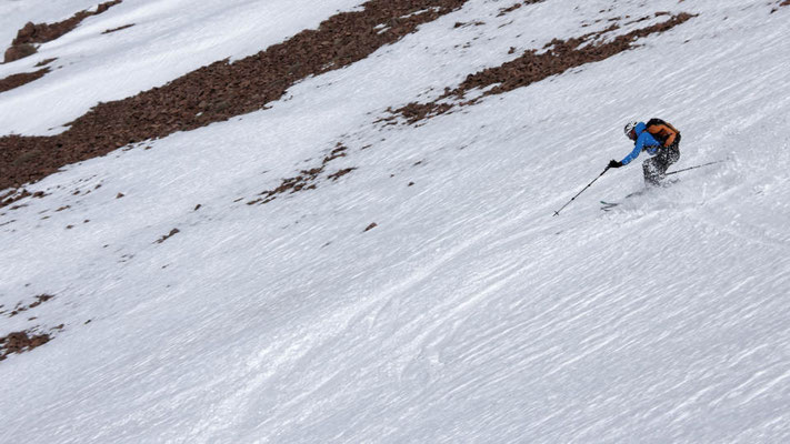 Afrika Firn, die wenigen Schneefälle in diesem Winter reichen allemal für die erste Firnabfahrt