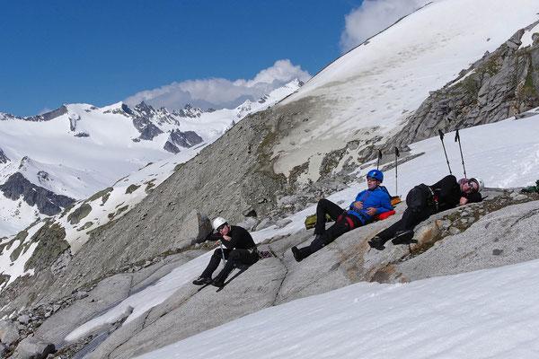 Die Helden vom Gletscherkurs sind müde