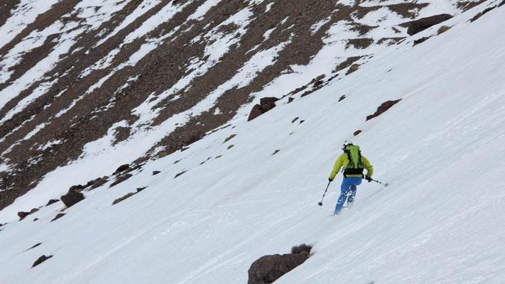 Firnschnee im Hohen Atlas, der Traum aller Skitourengeher
