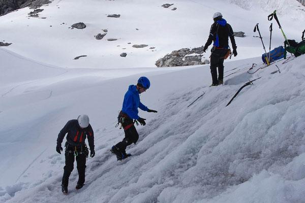 Steigeisentechnik, Training im leichten Gelände