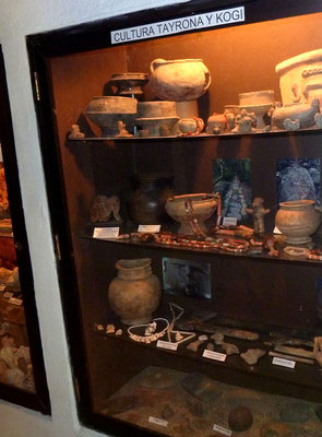 A section on Tayrona and Kogi cuture in the museum.