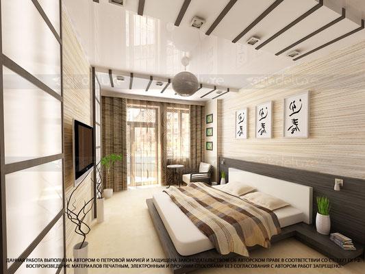 дизайн спальни в китайском стиле