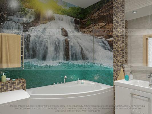 дизайн ванной комнаты роспись