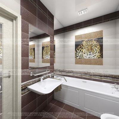дизайн ванной комнаты УРАЛКЕРАМИКА, Россия»Леопард