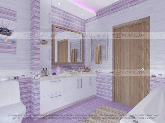 дизайн ванной комнаты АЗОРИ (AZORI), Россия Ethel viola