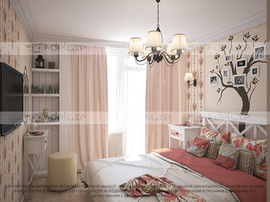 дизайн спальни в прованс стиле