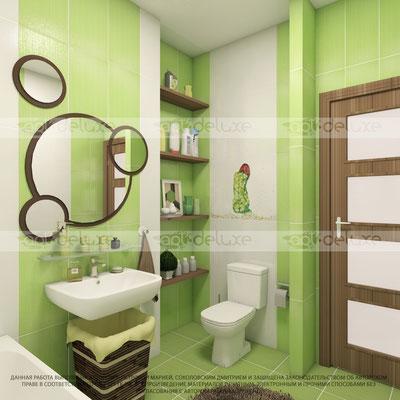 дизайн ванной комнаты АТЕМ, Украина Сuba