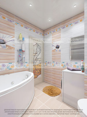 дизайн ванной комнаты АЗОРИ (AZORI), Россия»Ethel orange