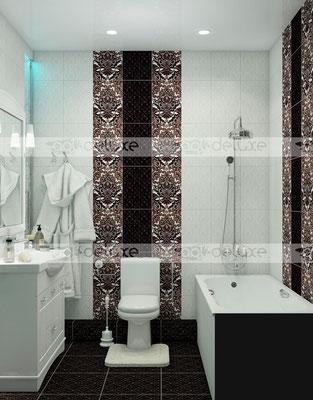 """дизайн ванной комнаты Керамин (Keramin) """"Органза 5"""""""