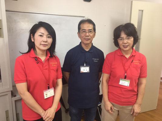 牟田先生、バージ―先生、晶子先生