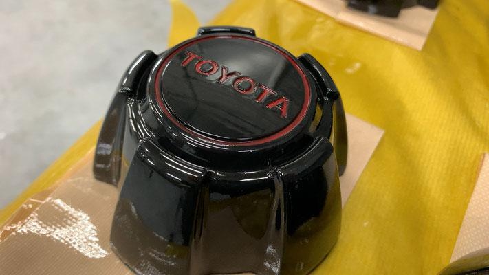 キャップはメーカー既に製廃でしたので中古品を磨いてクリアー塗装しました。