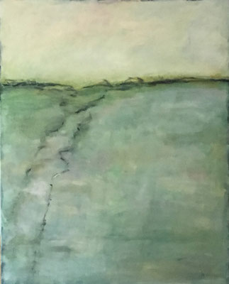 Landschaft 2019 Acryl auf Leinwand 100 cm x 80 cm