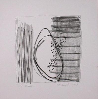 Der Zaun, Bleistift auf Papier