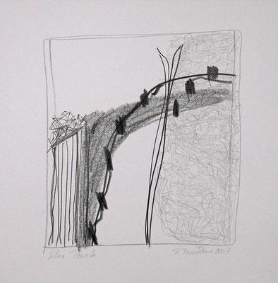 Der Park, Bleistift auf Papier