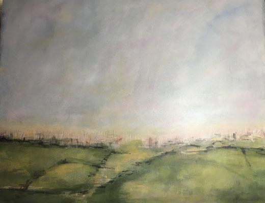 Landschaf t2019  Acryl auf Leinwand 100 cm x 120 cm